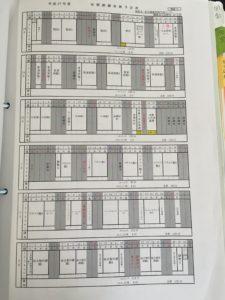 ポリテク機械加工技術科のスケジュール
