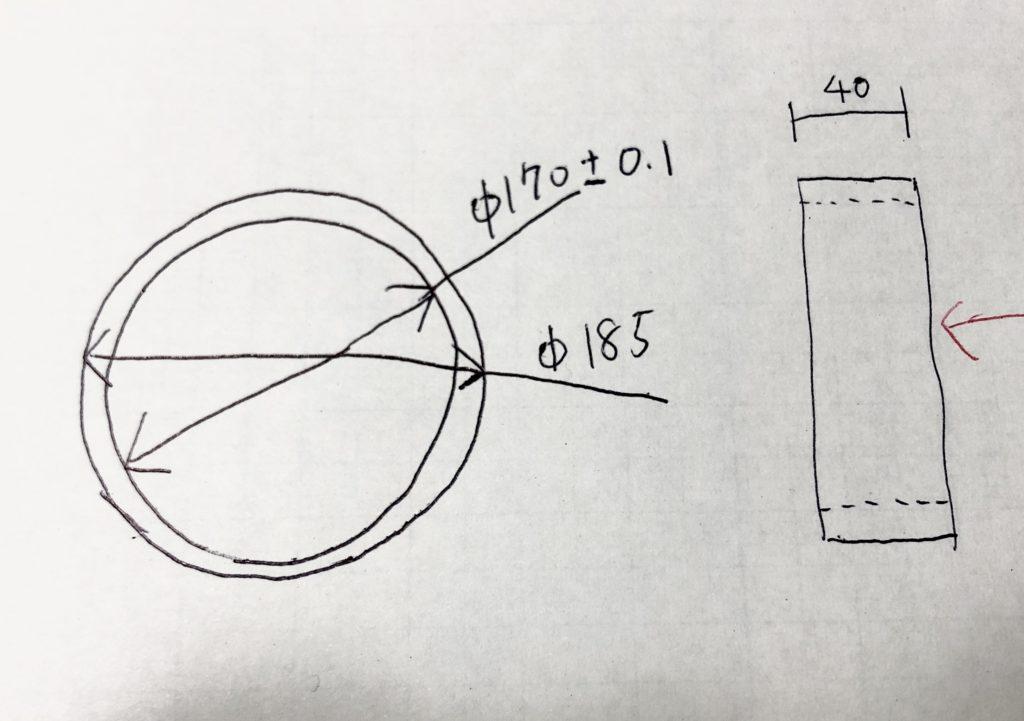 リングの図面