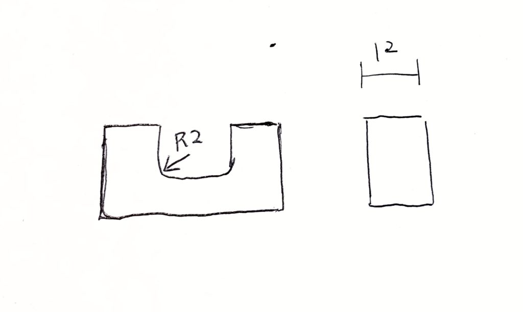 Rがあるマシニング加工
