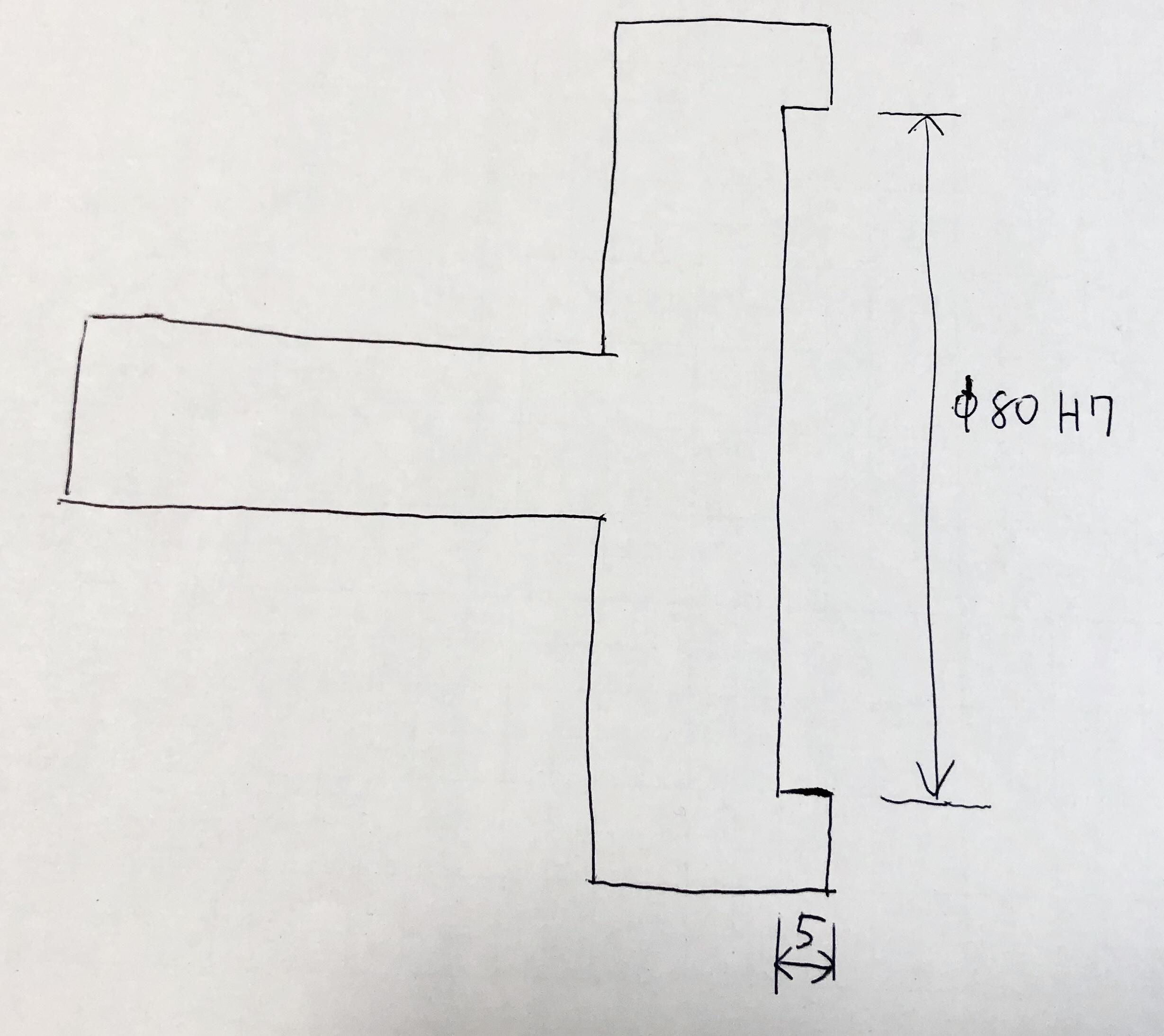 浅穴のワーク