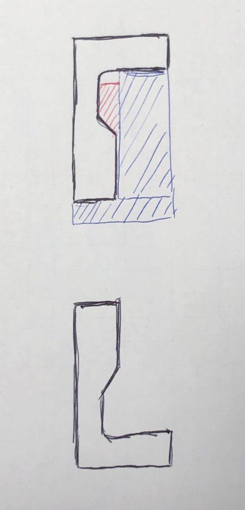 奥端面の外径