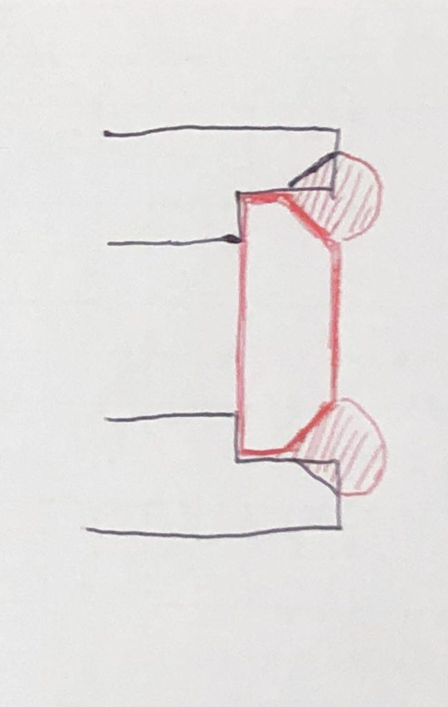 溶接品の端面削り2