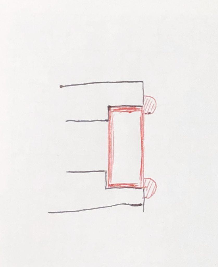 溶接品の端面削り1